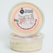 hickory smoked salmon and capre pate spread